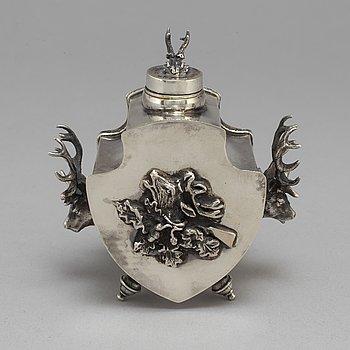 Bläckhorn, silver, Icke identifierad mästarstämpel, Moskva 1873.