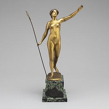 OTTO SCHEER, Efter. Skulptur, brons, sign.