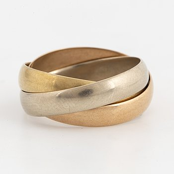 CARTIER, Ring 'Trinity', 18K trefärgat guld, med etui.