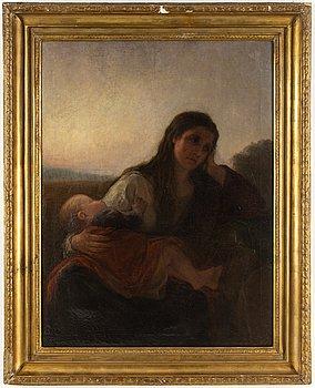 ANNA NORDGREN, olja på duk, signerad och daterad 1870.