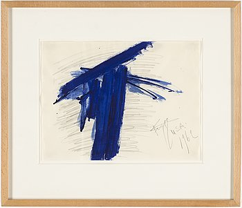 EDDIE FIGGE, gouache, signed and dated 1962.