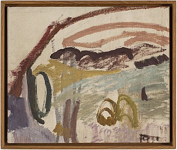 EDDIE FIGGE, oil on canvas, signed. dated 1949 verso.