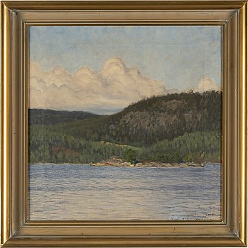 GUSTAF FJAESTAD, oil on canvas, signed and dated -94.