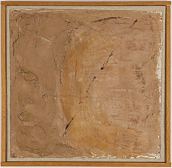 EDDIE FIGGE, oil on canvas, signed and dated 1955 verso.