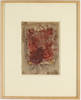 EDDIE FIGGE, mixed media, signed and dated 1962.