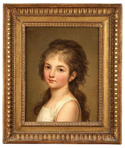 "Adolf ulrik wertmüller, ""portrait de jeune fille""."