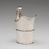A swedish early 19th century parcel-gilt silver cream-jug, mark of nils limnelius, stockholm 1810.