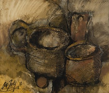 OLLI JOKI, oil on board, signed and dated -78, also a tergo.