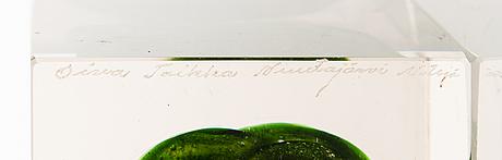 Oiva toikka, glaskub, signerad oiva toikka nuutajärvi notsjö