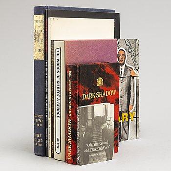 GILBERT & GEORGE, böcker, 7 st.
