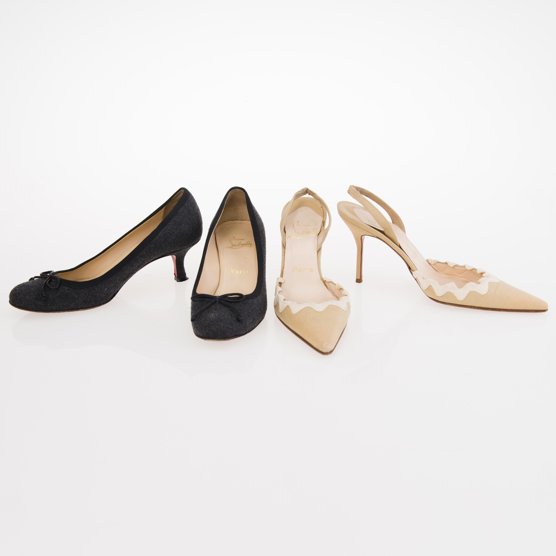 site réputé e3b1d a3a8a Two Pairs of CHRISTIAN LOUBOUTIN Shoes in size 37. - Bukowskis