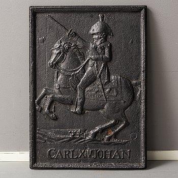 SÄTTUGNSPLATTA, gjutjärn, 1800-tal.