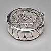 A swedish 19th century parcel-gilt silver snuff-box, mark of olof abel fernqvist, sundsvall 1856.
