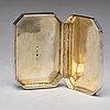 A swedish 19th century parcel-gilt silver box, mark of eric soderholm, harnosand 1853.