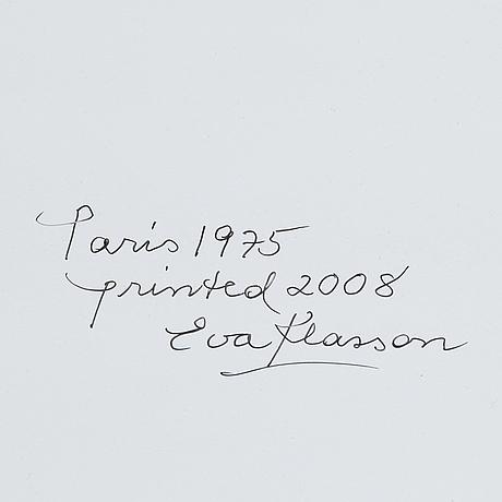 Eva klasson, silvergelatinfotografi 55 x 37 cm, signerad