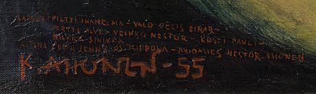 Kosti ahonen, olja på duk, signerad  55