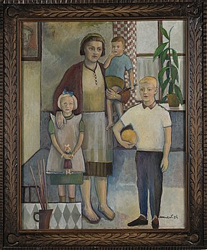 KOSTI AHONEN, oil on canvas, signed and dated -54.