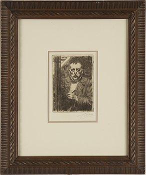ANDERS ZORN, etsning, signerad med blyerts samt signerad och daterad 1911 i plåten.