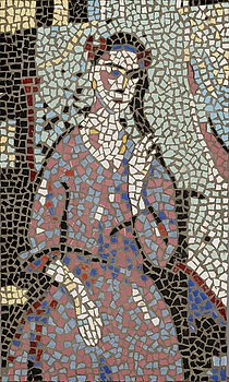 KOSTI AHONEN, mosaic, a tergo signed.