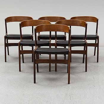 6 mahogany chairs, mid 20th century.