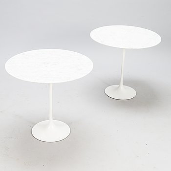 EERO SAARINEN, Two early 1970s 'Tulip' tables for Artek Finland.