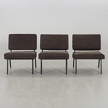 FLORENCE KNOLL, a set pf three model nr 31 chairs NK workshop 1960's.