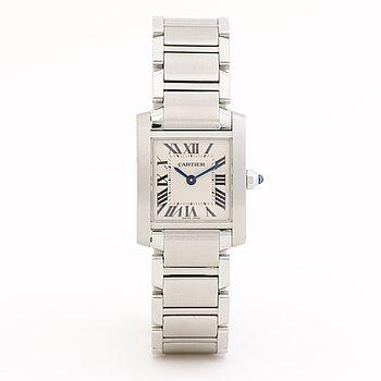 CARTIER, Tank Francaise, wristwatch, 20 x 25 mm.