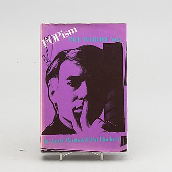 """BOOK, """"POPism - The Warhol '60s"""", av Andy Warhol och Pat Hackett, 1980, first editon, signed."""