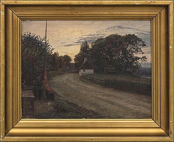 TOM PETERSEN, oil on canvas signed and dated 1895.