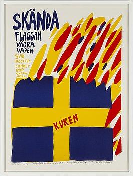 CARL JOHAN DE GEER, färgserigrafi, signerad och numrerad 16/99.