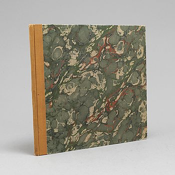 A book with Chinese cut erotica sheets on silk, 20th century.