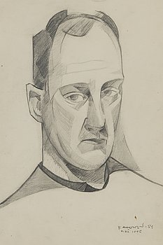 KOSTI AHONEN, pencil drawing, signed and dated -54.