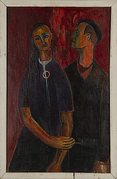 KOSTI AHONEN, oil on canvas, signed and dated -60.
