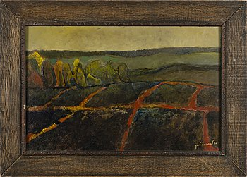 KOSTI AHONEN, oil on board, signed and dated -72.