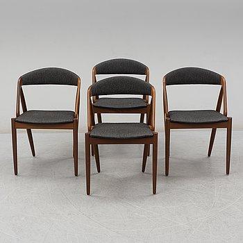 KAI KRISTIANSEN, 4 stolar, modell T21, Danmark, 1900-talets andra hälft.