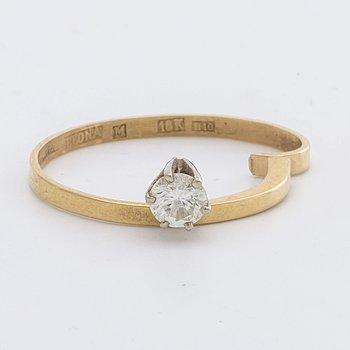 ELON ARENHILL RING 18K gold w 1 brilliant-cut diamond approx 0,20 ct, Malmö 1982.