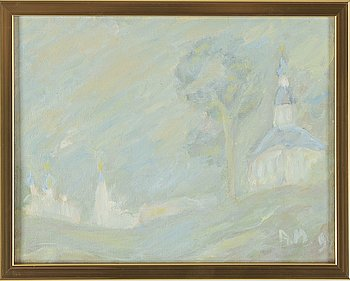 Anatoly Maslov, oil on canvas, signed AM and dated 92.