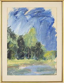 ANATOLE ZVEREV, oil on paer, signed with initials in cyrillic AZ and dated 67.