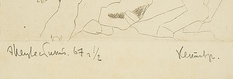 Ernst iosipovitch neizvestny, etsning, signerad, numrerad 1/2 och daterad 67.