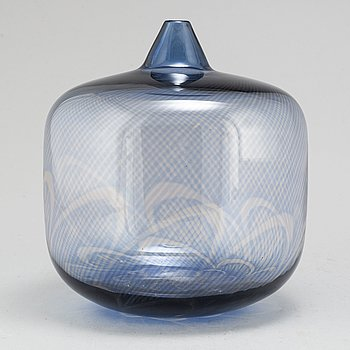 INGEBORG LUNDIN, a glass vase from Orrefors Expo, 1965.