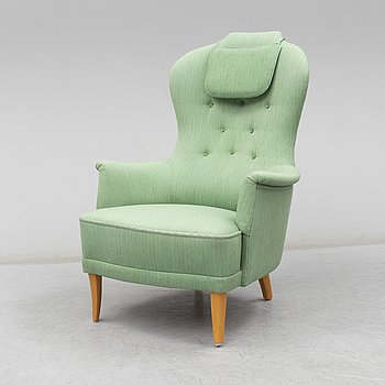 A second half of the 20th Century 'Farmor', easy chair by Carl Malmsten.