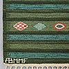 """Barbro nilsson, matta, """"krusbär"""", gobelängteknik, ca 205 x 132,5 cm, signerad ab mmf bn."""