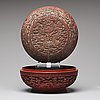 A box with cover, presumably qing dynasty (1664-1912) with qianlong mark.