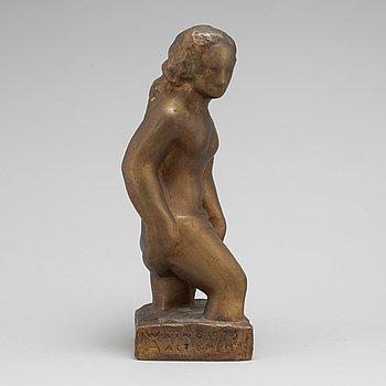 WÄINÖ AALTONEN, skulptur, brons, signerad och daterad 1925.