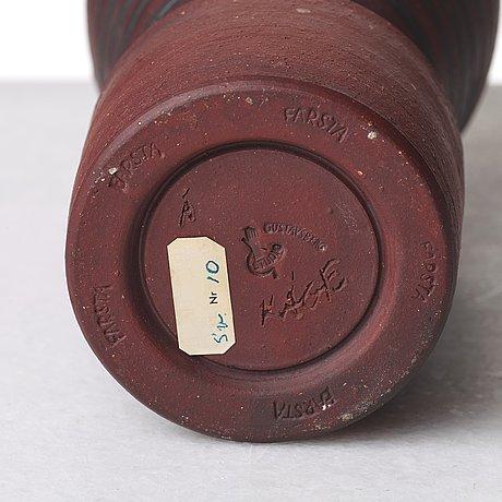 "Wilhelm kåge, a farsta stoneware ""terra spirea"" vase, gustavsberg studio sweden 1956."