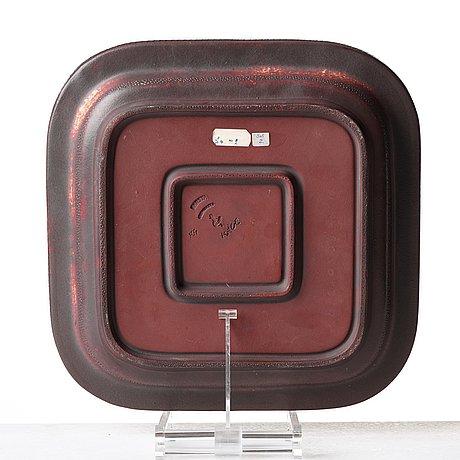 "Wilhelm kåge, a ""farsta"" stoneware dish, gustavsberg studio, sweden 1960."