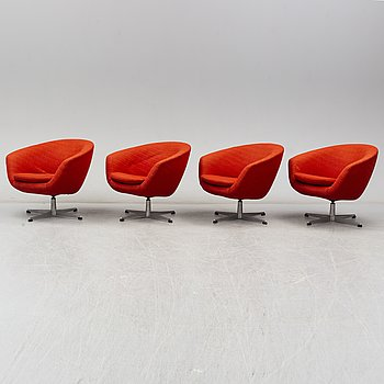 A set of four easy chairs, 1960/70´s.