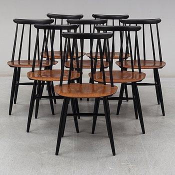 ILMARI TAPIOVAARA, stolar, 8 st, Fanett, Edsbyverken 1960.