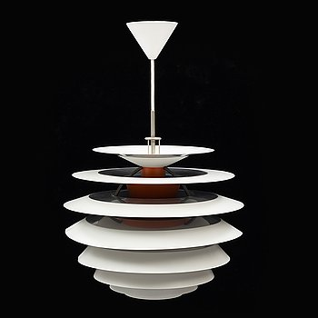 A late 20th century 'PH Kontrast' ceiling light by Poul Henningsen, Louis Poulsen, Denmark.