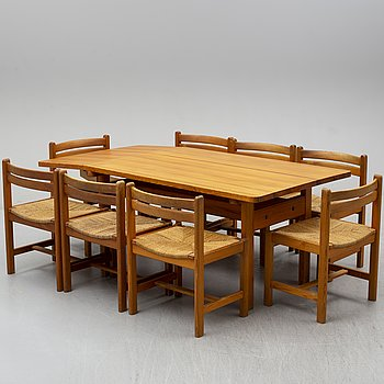 BØRGE MOGENSEN, a pine 'Asserbo' table and eight chairs from Karl Andersson & Söner.